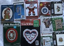 LOT of -11- Vintage Christmas Cross Stitch  Kits New in Package