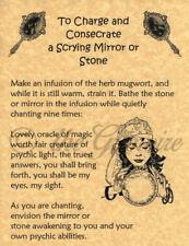 MAKE A SCRYING MIRROR, Book of Shadows Spell Page, Wicca, Witchcraft