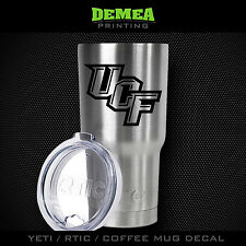 "UCF- Central Florida - Knights - 3"" DECAL/STICKER for Yeti/Rtic//Tumbler/Coffee"