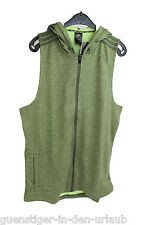 Adidas señores chaleco sudadera chaqueta sin mangas verde tamaño l nuevo