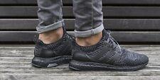 ⭐ Adidas Ultra Boost 3.0 9 UK Triple Black Silver Men Trainers Running BA8923