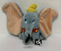 "Vintage Walt Disney World Dumbo Plush 12"" Stuffed Animal with Yellow Hat"
