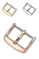 Universal Stainless Steel Watch Strap Clasp Band Pin Buckle Three Colors 10-20mm