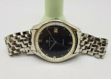 USED VINTAGE ETERNA-MATIC VISION BLACK DIAL DATE AUTO MAN'S WATCH