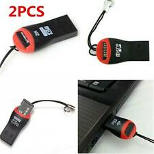 2PCS Simple USB 2.0 Micro SD TF Memory Card Reader Mini Adapter For Laptop PC AU