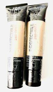 2x 35ml L'Oréal Loreal Paris Make Up Infaillible /indefectible 24h Matt 13 Beige