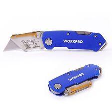 WORKPRO Lock Back Folding Utility Knife Quick Change End Belt Clip Cutter Tool