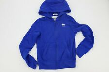 Abercrombie Kids Youth Boys Muscle Jacket with Hood Royal Blue White
