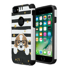 Dual Layer Armor Combat Case for iPhone 7 6s 6 - Beagle