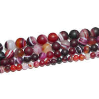 Achat Perle Kugel matt drusen lila 6-12 mm 1 Strang #1117 BACATUS Edelstein