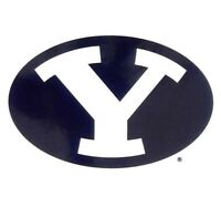 Brand New BYU Brigham Young Cougars Small Static Car Decal Sticker NCAA Logo 4x4