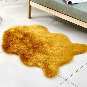 Wool Carpet Shag Area Rugs Cushion Floor Mat Living Room Bedroom Fluffy Rugs New