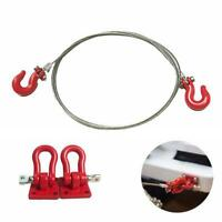 RC 1/10 Scale Alloy Hitch Tow Shackles Hooks For AXIAL Car SCX10 Crawler H9J1