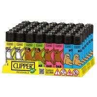 48 Accendini CLIPPER LARGE ANIMAL DAB T Con Espositore