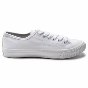 SUPERDRY WOMENS LOW PRO SNEAKER PLIMSOLLS TRAINERS WHITE