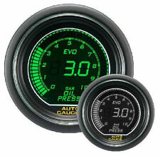 AUTO GAUGE EVO 52 mm Green / White Digital Oil Pressure Gauge with sensor