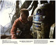The Empire Strikes Back original 8x10 lobby card 1980 Mark Hamill R2D2 in woods