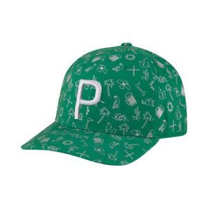 NEW Puma Waste Management Desert P-110 Green/Grey Adjustable Snapback Golf Hat
