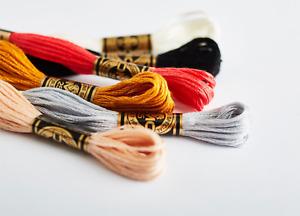 DMC Stranded Cotton Embroidery Thread 6 strands 8 m skeins 250 colours 3862-ecru