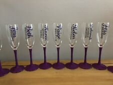 Personalised Glitter Champagne Flute Glasses