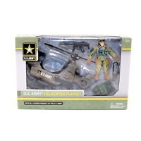 U.S. Army Helicopter Playset Plastic Action Figure