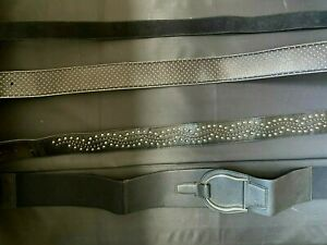 Set of 4 - Women's Belt Ralph Lauren RL DKNY Genuine Leather Suede Leather M L