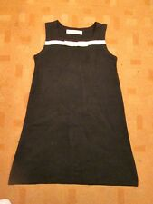 ZARA Vintage 60s style knitted winter A line shift dress with bow sz 12