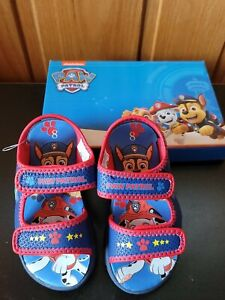 Paw Patrol Two Strap All Day Play Adventure Sandal Toddler Boys SIZE 8