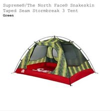 Supreme The North Face Taped Seam Stormbreak Tent Green Snakeskin 100% Authentic