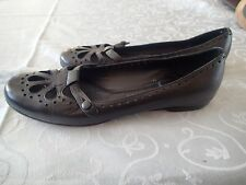 chloe  shoes FLATS, LEATHER    sZ 36.5 black made in italy   v