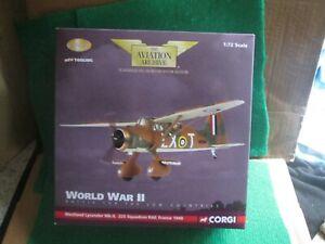 CORGI AVIATION AA36801 WESTLAND LYSANDER MK11 FRANCE 1940 (1:72 SCALE) LOT J44