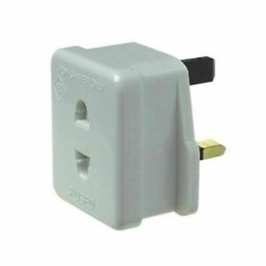 brand new SHAVER or toothbrush plug adapter UK to 2 pin socket 1A Fuse