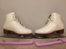 Riedell Size 7 1/2 B Wide model 320 Ice Skates Good Condition Women's Ladies