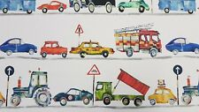 Prestigious On The Road Paintbox Childrens Car Lorry Cotton Curtain Craft Fabric