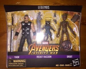 MARVEL LEGENDS INFINITY WAR Thor, Rocket & Groot - Toys R Us EXCLUSIVE