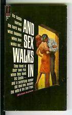 AND SEX WALKS IN by Avallone, rare Beacon Signal noir sleaze gga pulp vintage pb