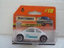 MATCHBOX SUPERFAST REF 18 VW CONCEPT 1 NEW BEETLE NEUF EN BLISTER