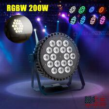 Stage Lighting 200W DJ 18 LED Par Light RGBW DMX512 Bar Party Disco Show Lights