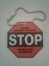 (48) Stop Do Not Attempt to Start - Vehicle Out Of Service Chained Tags