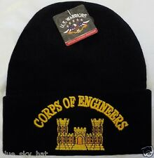 U.S. ARMY CORPS OF COMBAT ENGINEER USACE CoE DEFENSE WATCH CAP BEANIE KNIT HAT