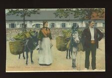 Animals DONKEYS Gibraltar Street Costumes Hawkers c1900/10s? PPC