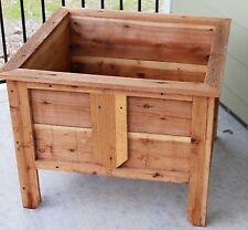 Rustic Redwood Planter Box