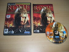 ROME - Total War - BARBARIAN INVASION Add-On Expansion Pack Pc DVD ROM