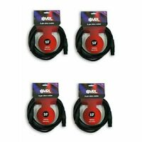 4 VRL 3 Pin 10' ft DMX Lighting Cables - Data Cable