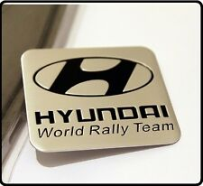 Hyundai World Rally Team Aluminium Motorsport Car Badge Emblem Sticker Decal 51