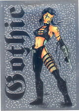 RAZOR GOTHIC 1997 KROME PRODUCTIONS CHROMIUM PROMO CARD NO NUMBER