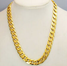 Men's Necklace 24inch Curb Link 18k Yellow Gold Filled Charms Chain HOT Jewelry