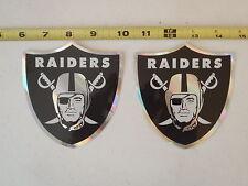 Oakland Raiders NFL Football Stickers Lot of  2 Rare Logo Shield Stickers