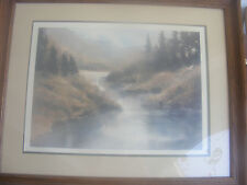 SIGNED FRAMED PRINT RUSSIAN RIVER BY NANCY TAYLOR STONINGTON 637/650
