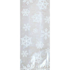 20 Christmas Frozen Snowflake Party Large loot Treat Cellophane Gift Sack Bags